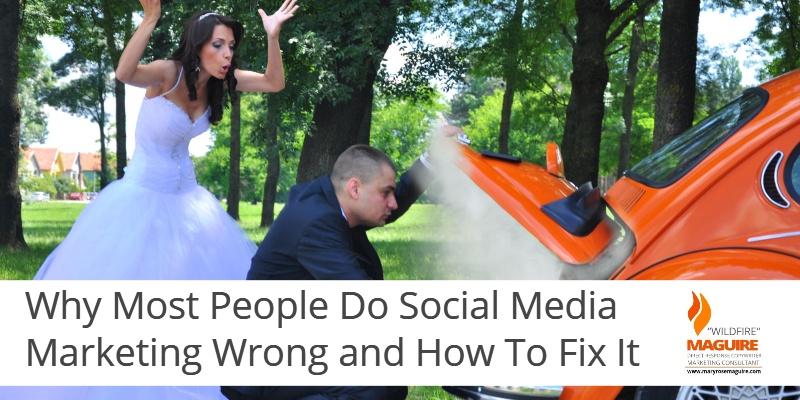 Imagine social media as a conversation, not a bullhorn...